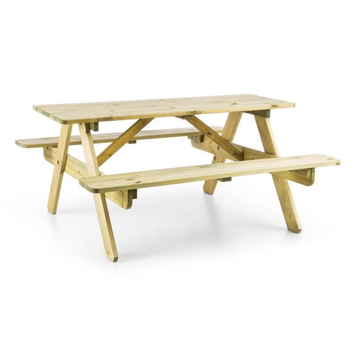 Table De Pique-Nique Avec Banc Meuble Jardin Pour Enfants ... pour Table De Jardin Pique Nique Bois