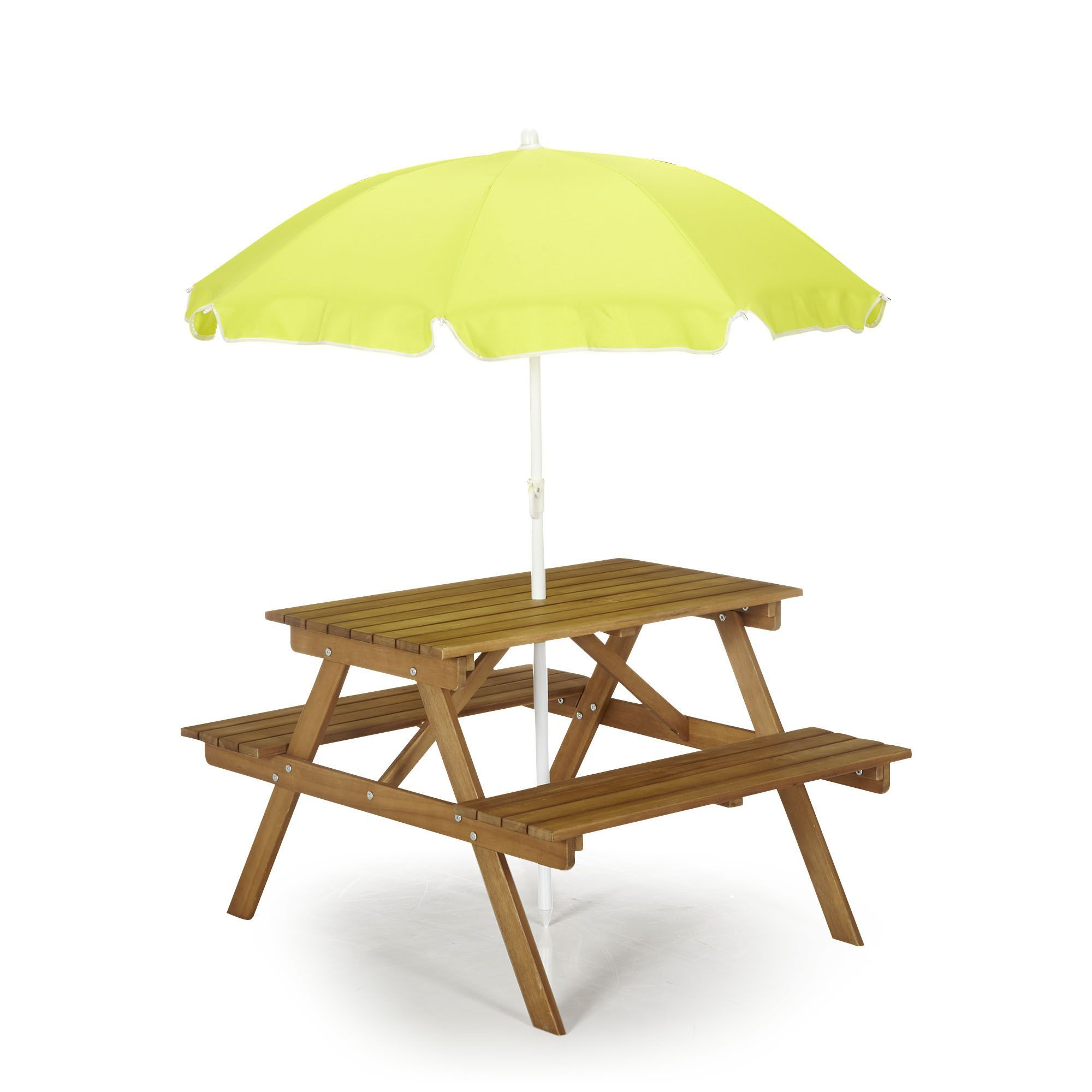 Table De Pique-Nique En Acacia Pour Enfant Acacia - Duoti ... destiné Table Et Chaise Jardin Enfant