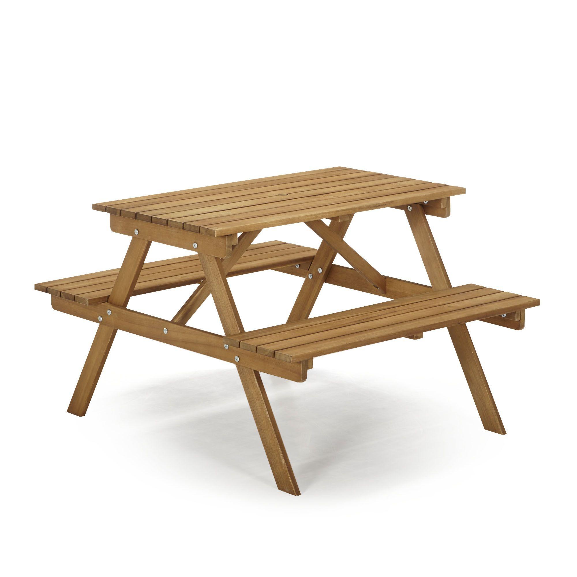 Table De Pique-Nique En Acacia Pour Enfant - Duoti - Les ... serapportantà Table De Jardin Enfants