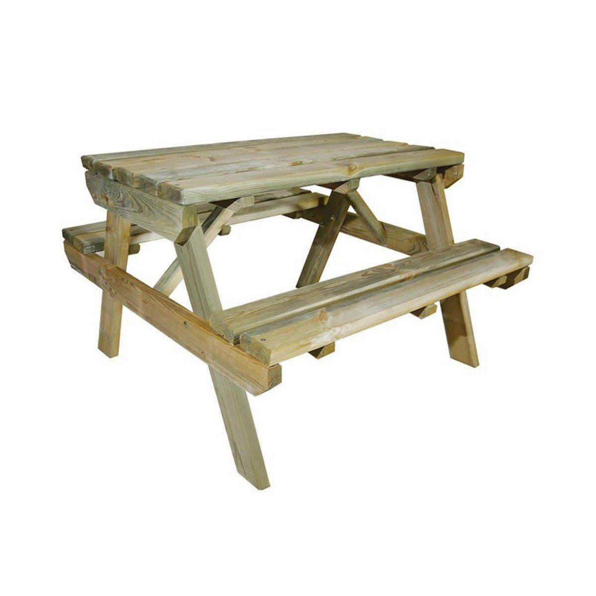 Table De Pique-Nique En Bois Chinchilla Pour Enfant 4 Places ... destiné Table Jardin Bois Enfant