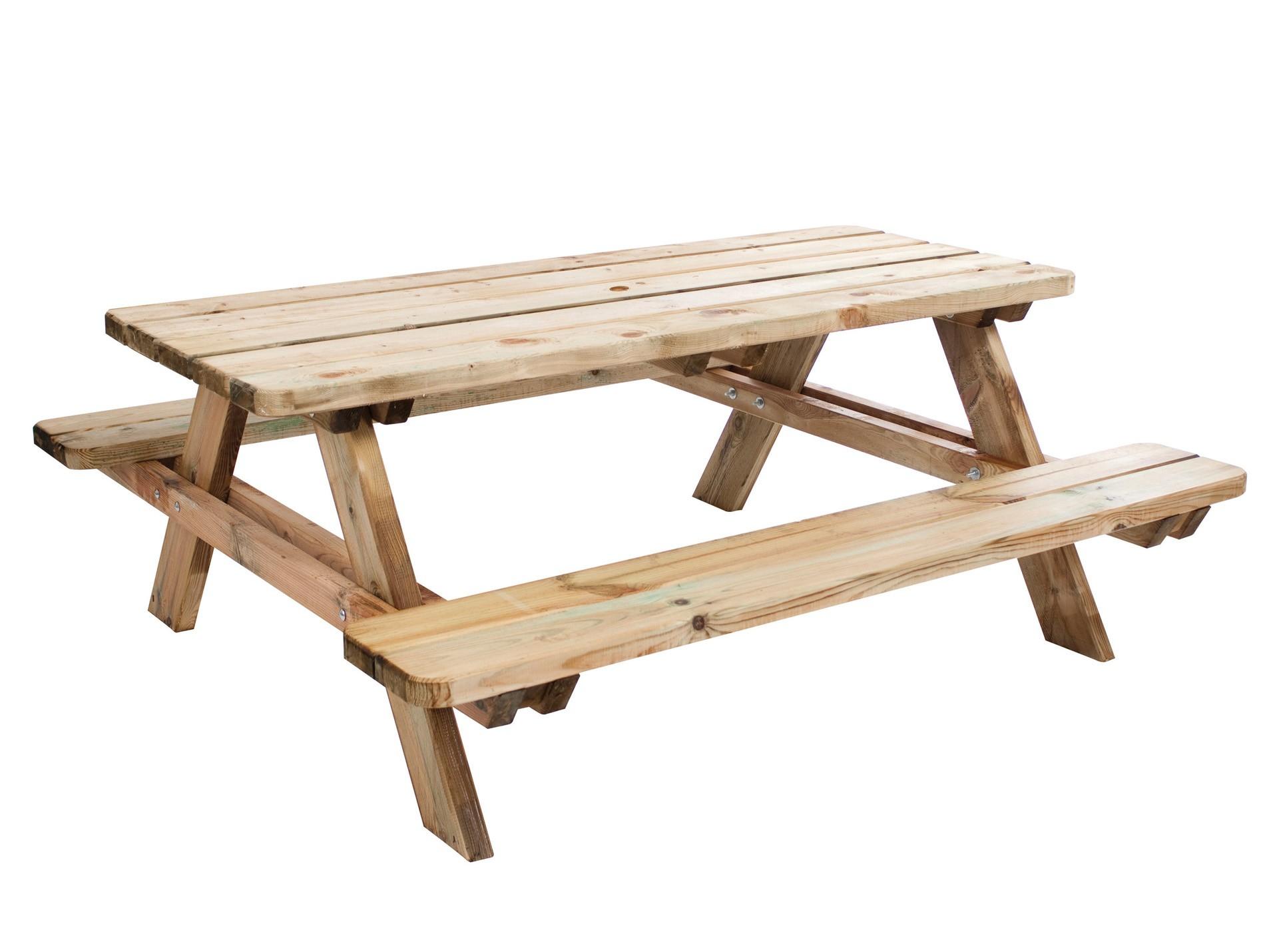 Table De Pique Nique En Bois Matisse 1.80M - Mobilier De ... concernant Table De Jardin Pique Nique Bois