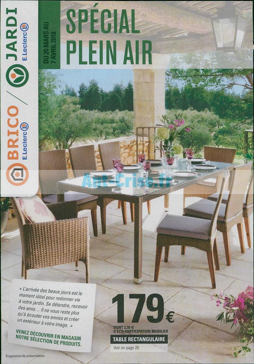 Table De Salon De Jardin Leclerc Élégant Catalogue Leclerc ... dedans Leclerc Mobilier De Jardin