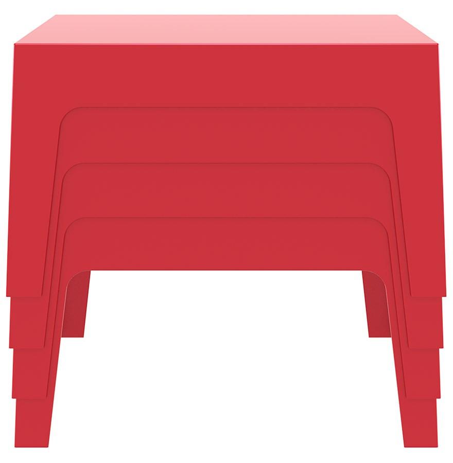 Table Design Marto - Table Basse De Jardin Rouge En Matière ... intérieur Table Basse De Jardin En Plastique