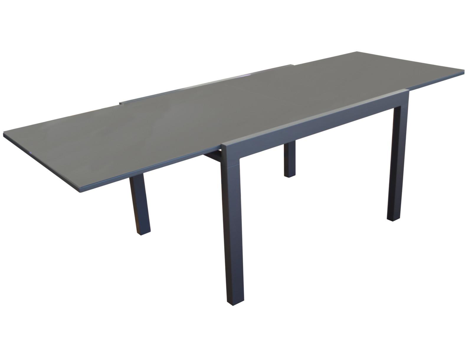 Table Elise 200/300 Cm dedans Table De Jardin Dessus Verre