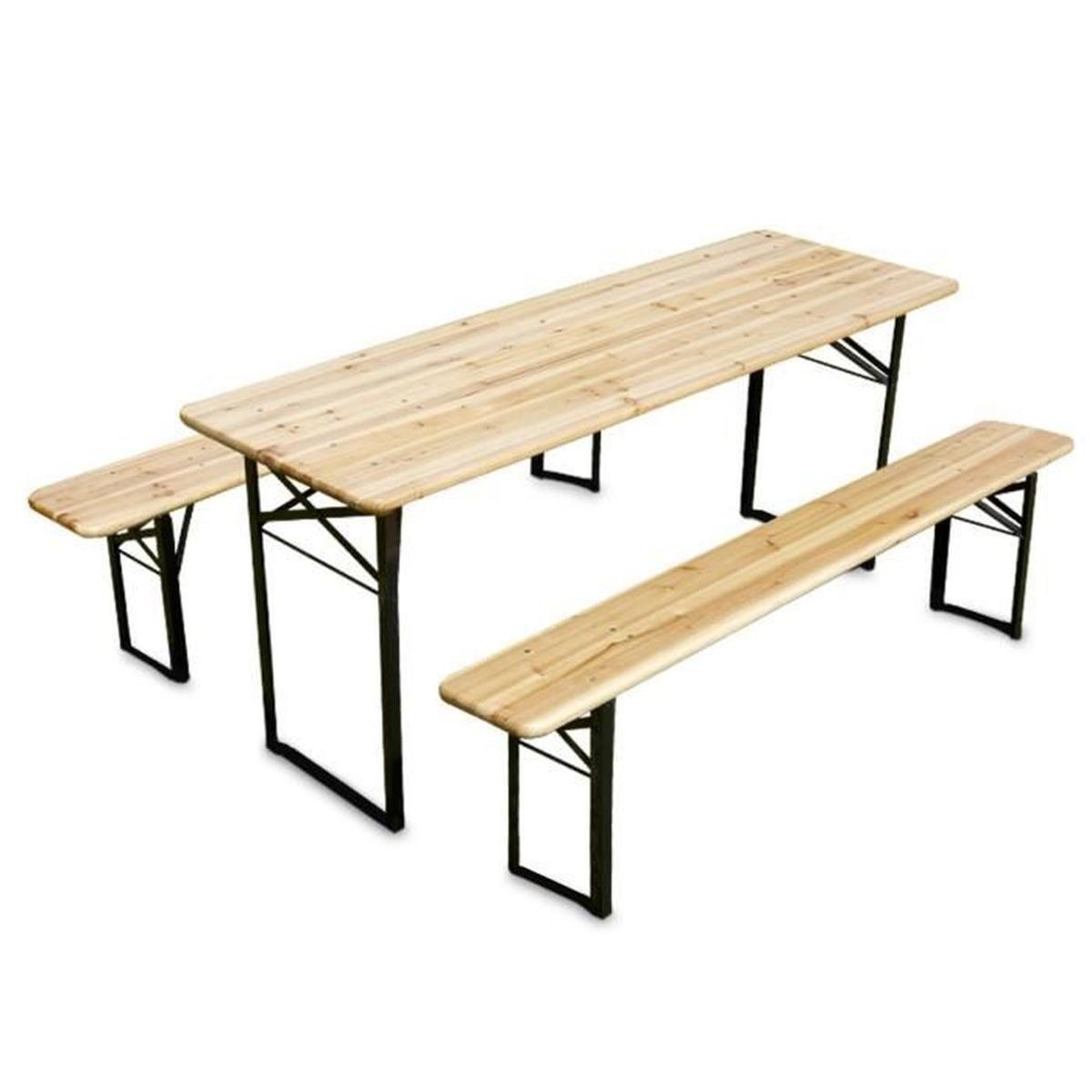Table En Bois Avec Banc concernant Table De Jardin En Bois Avec Banc Integre
