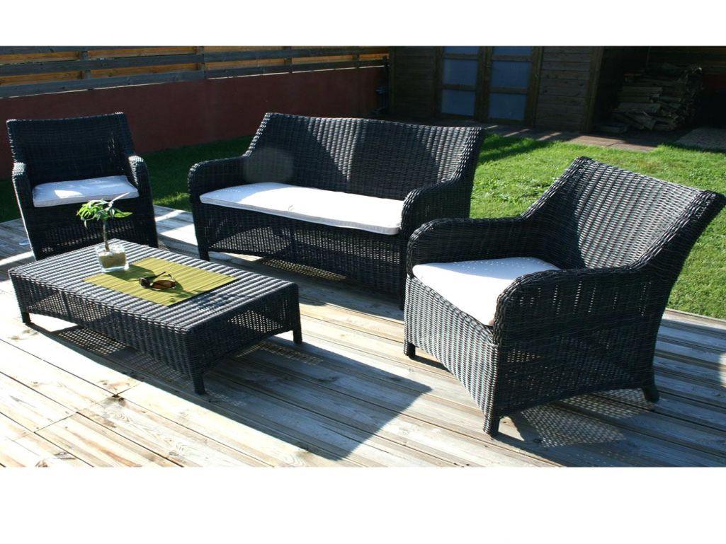 Table Et Chaise De Jardin En Resine Tressee Lunedesang ... tout Salon De Jardin Super U