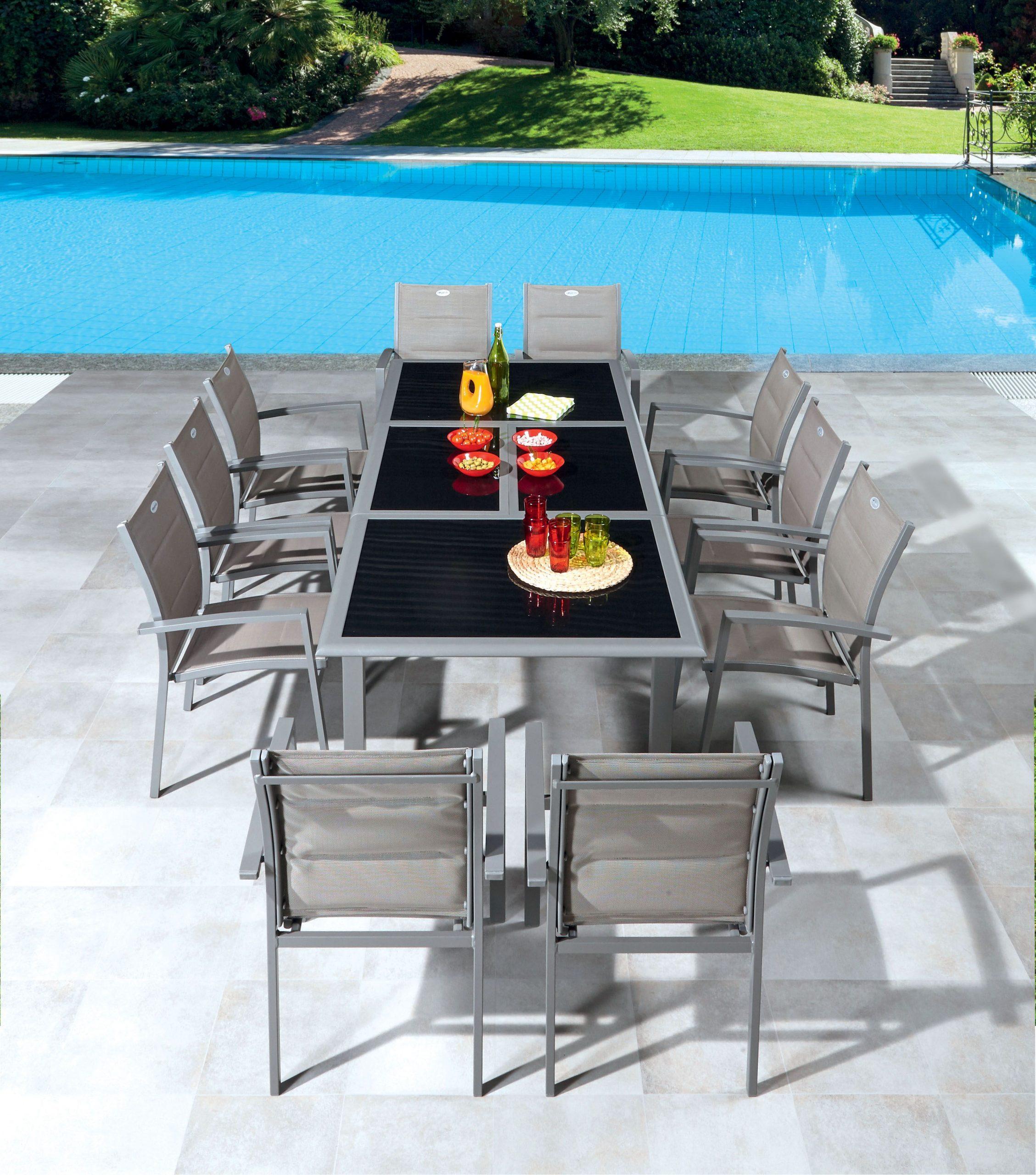 Table Et Chaises De Jardin Centrakor | Chaise De Jardin avec Mobilier De Jardin Soldes