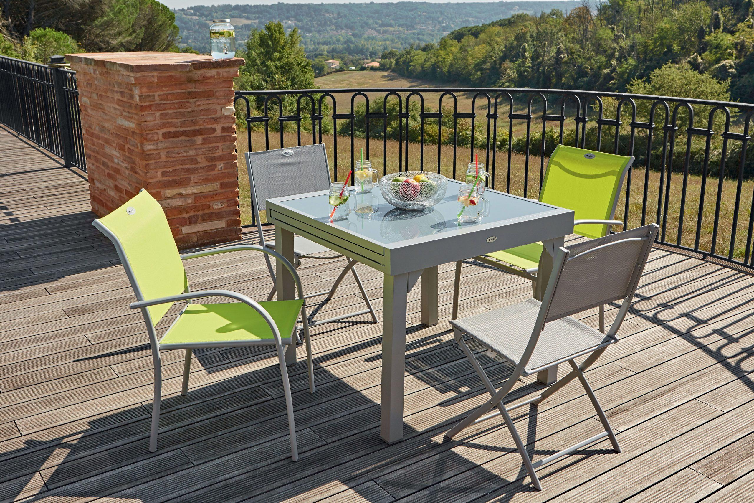 Table Extensible Centrakor   Salon De Jardin Castorama ... destiné Bordure Jardin Castorama
