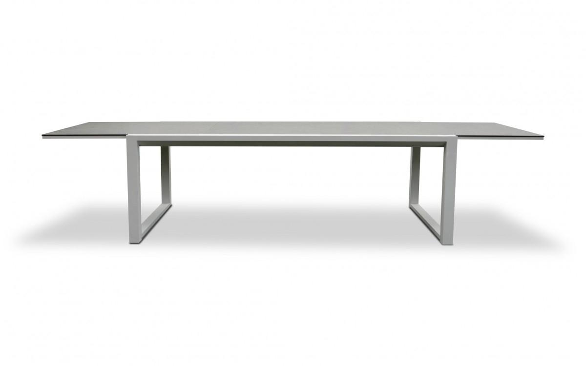 Table Extensible Edelweiss | Meubles De Jardin Emyloly By Nicolazi Design  Taille 160/240X96X76 Cm Finitions Table Alu Blanc / Céramique Béton pour Table Céramique Jardin