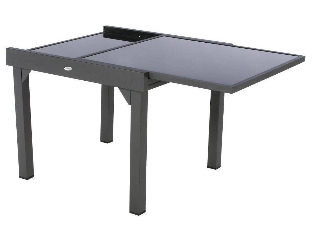 Table Extensible En Verre Piazza 4/8 Places - avec Table De Jardin Carrée 8 Personnes