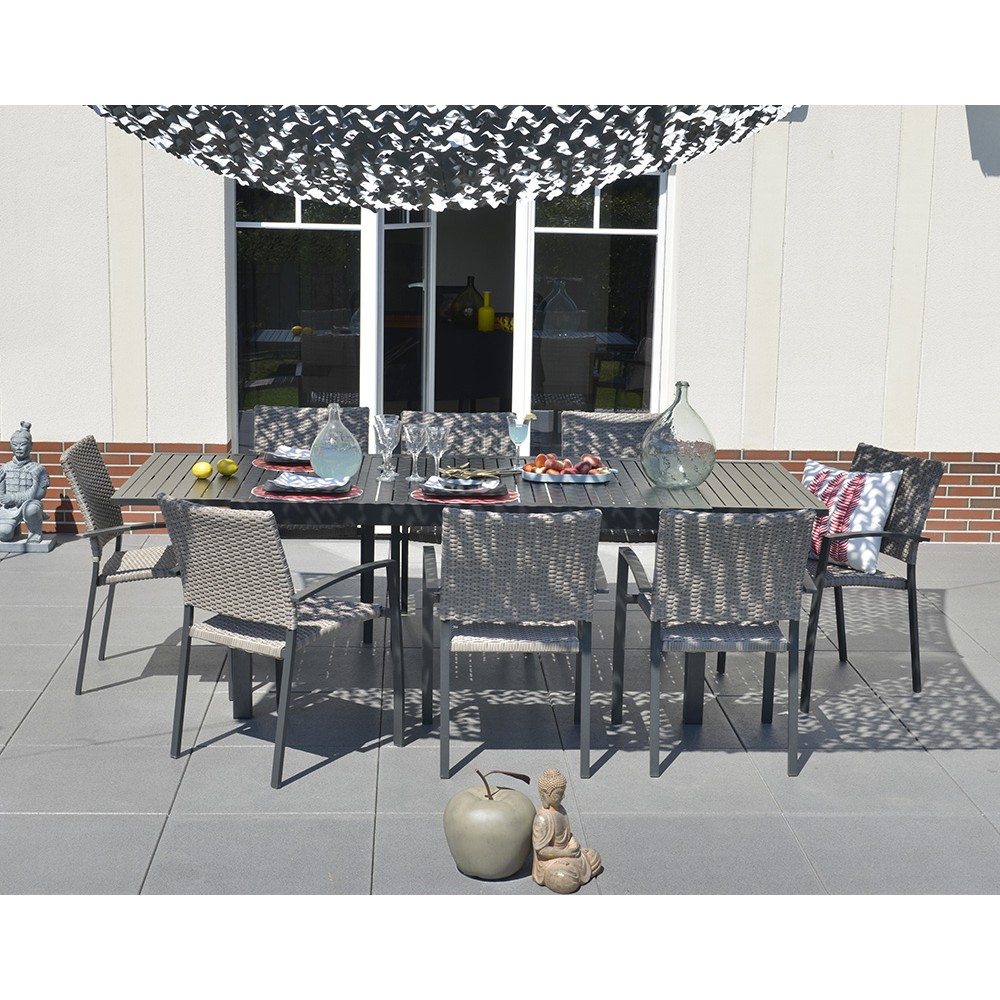 Table Extensible Nikitha Aluminium à Table De Jardin Promo