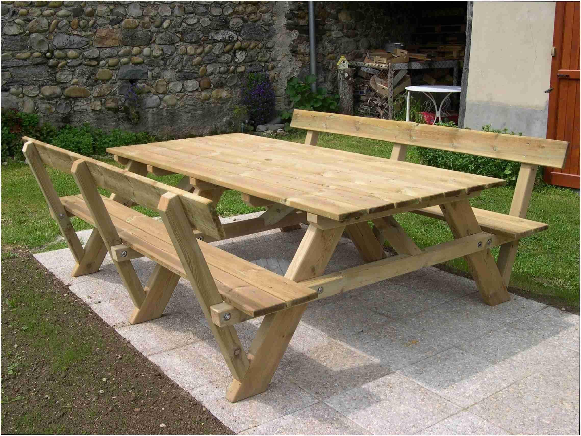 Table Exterieur En Bois Élégant Table Exterieur En Bois ... pour Plan Pour Fabriquer Une Table De Jardin En Bois