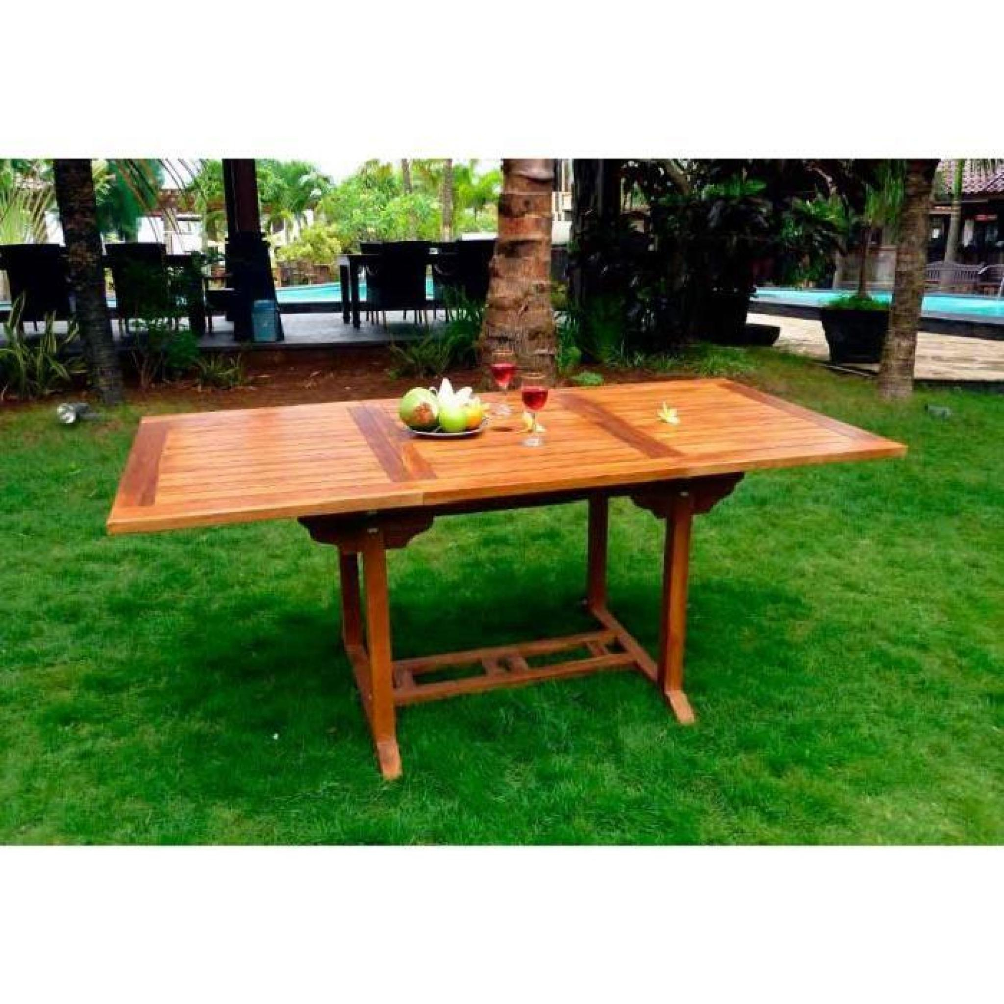 Table Extérieur En Teck Huilé 8 Places à Table De Jardin Extensible Pas Cher