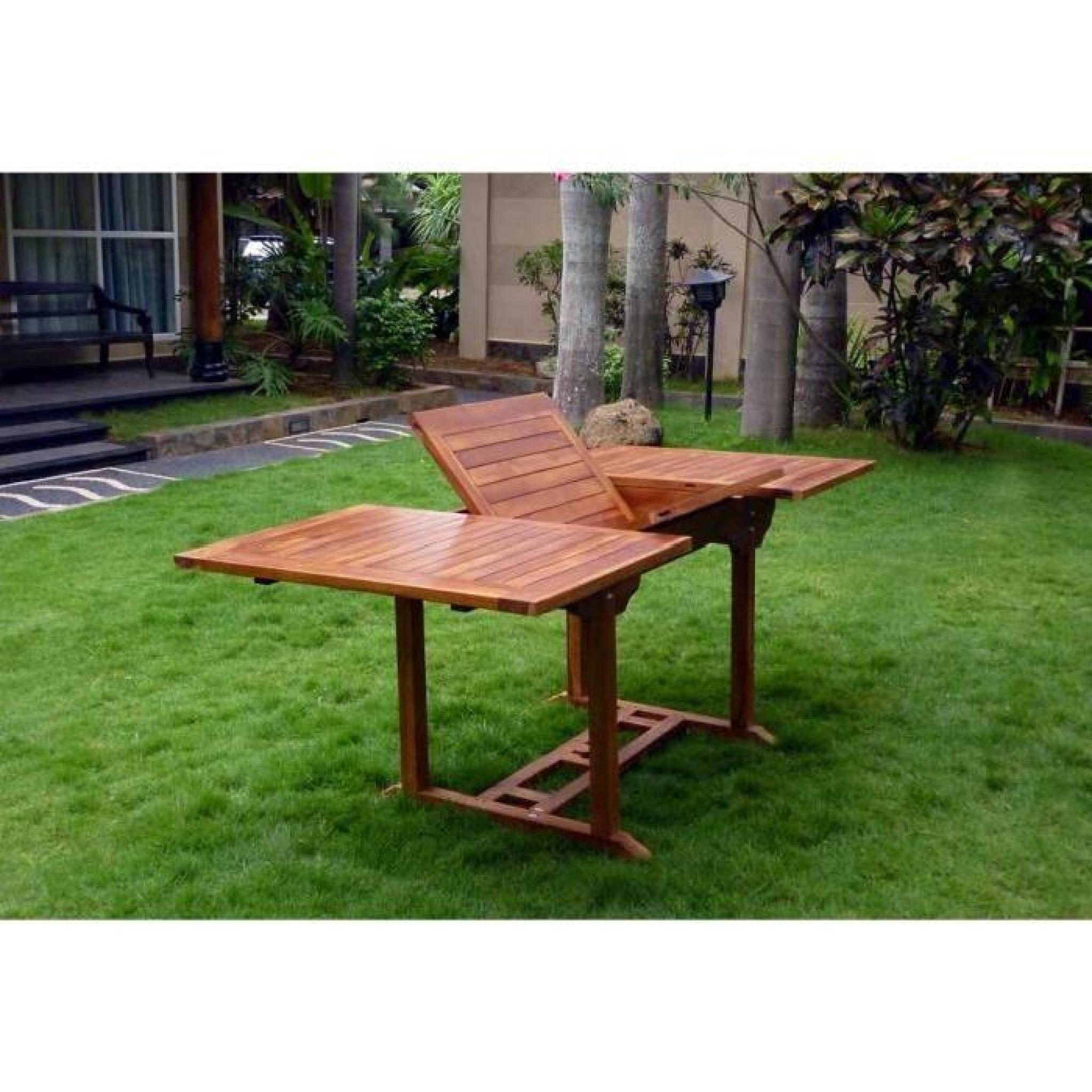Table Extérieur En Teck Huilé 8 Places dedans Table De Jardin Extensible Pas Cher
