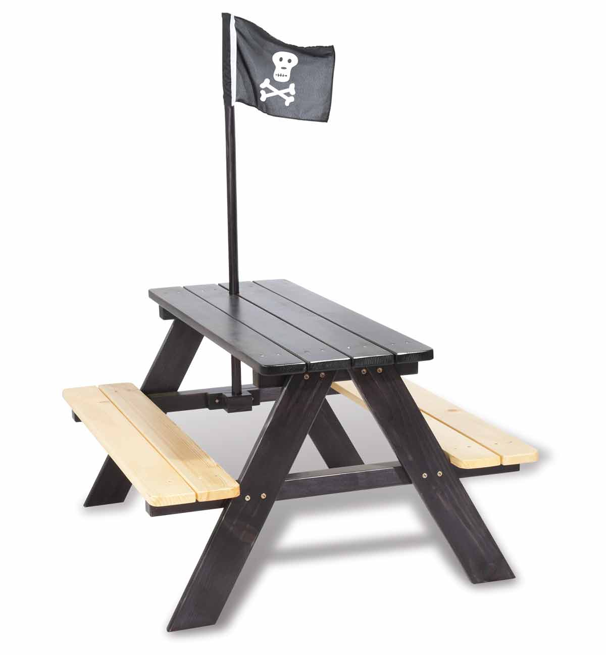 Table Extérieur Enfant En Bois, En Pin Massif, Pirate, Pinolino concernant Table Jardin Bois Enfant