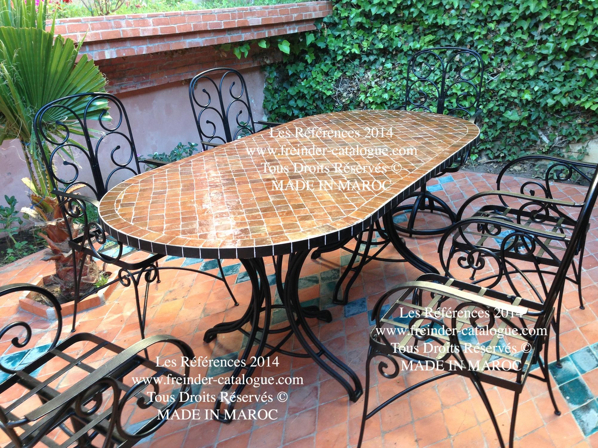 Table Fer Forg Mosaique Occasion Pour Salon De Jardin Chic ... tout Salon De Jardin Fer Forgé Occasion