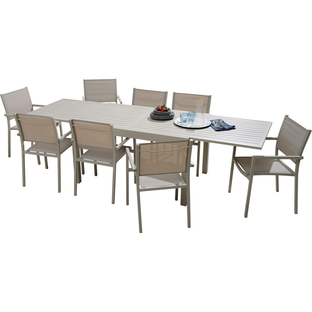 Table Happy Aluminium Avec Allonge 135/270Cm à Table De Jardin En Aluminium Avec Rallonge