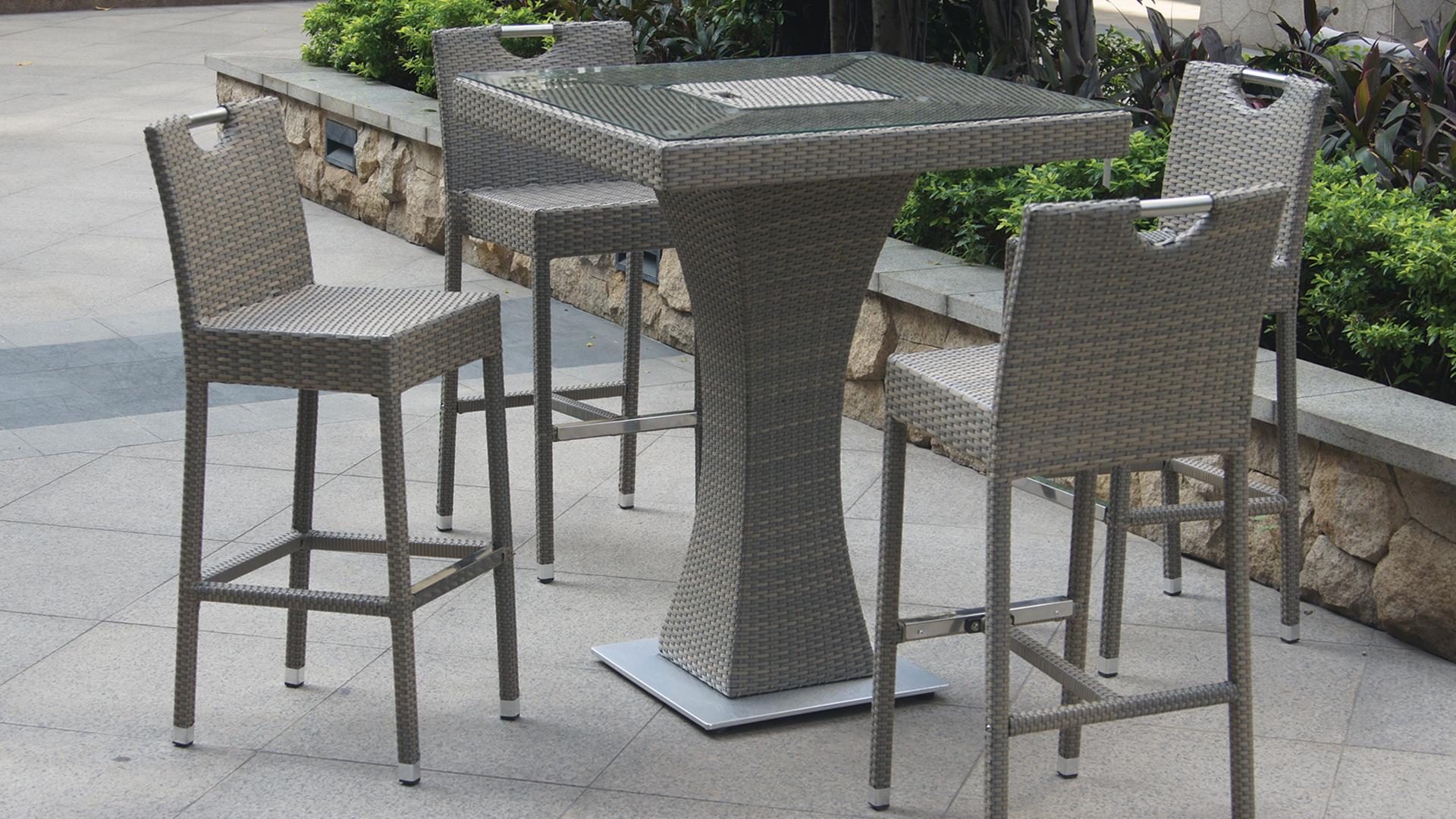 Table Haute Jardin Des Idées - Idees Conception Jardin serapportantà Salon De Jardin Table Haute