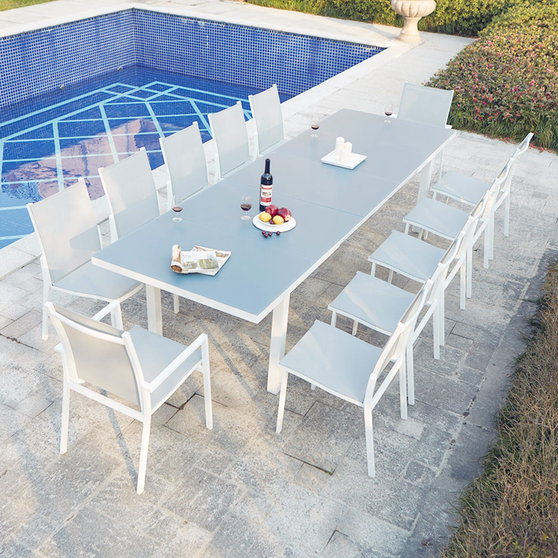 Table Jardin 16 Personnes - 28 Images - Table De Jardin ... pour Salon De Jardin Aluminium Et Composite