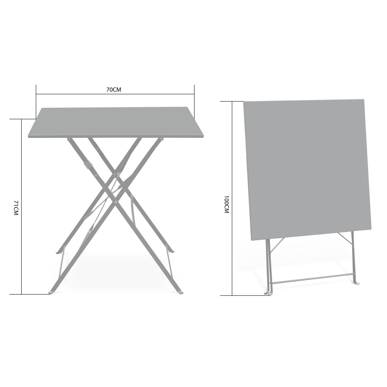 Table Jardin Bistrot Pliable - Emilia Carrée Verte- Table ... à Table Jardin Verte