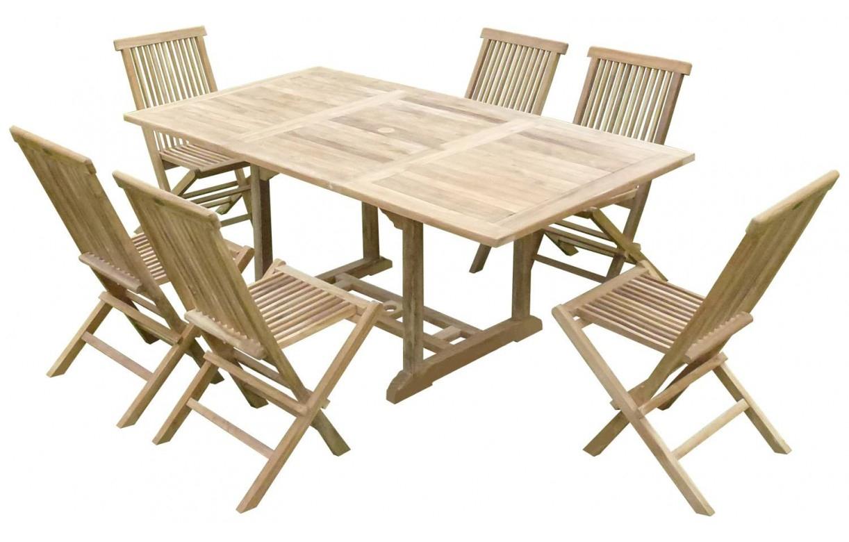 Table Jardin En Teck Table De Jardin En Bois Avec Rallonge ... à Salon De Jardin Avec Rallonge