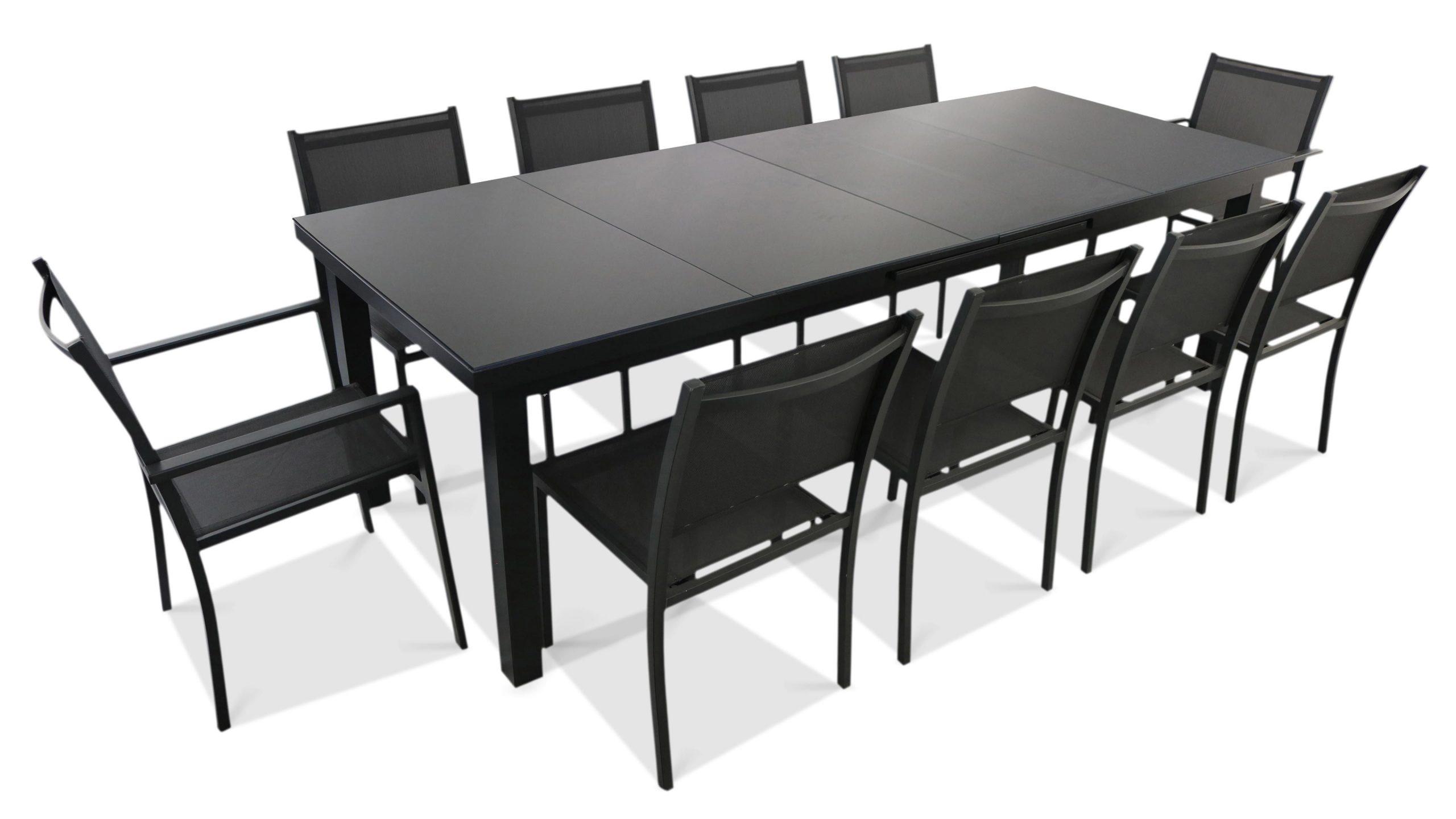 Table Jardin Extensible Rallonge 256/320 Cm 10 Places serapportantà Table De Jardin Extensible Pas Cher