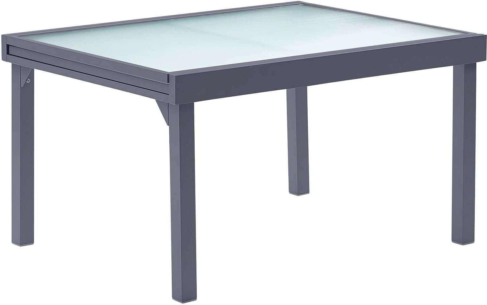 Table Jardin Modulo 6 À 10 Personnes Gris destiné Table Jardin 6 Personnes