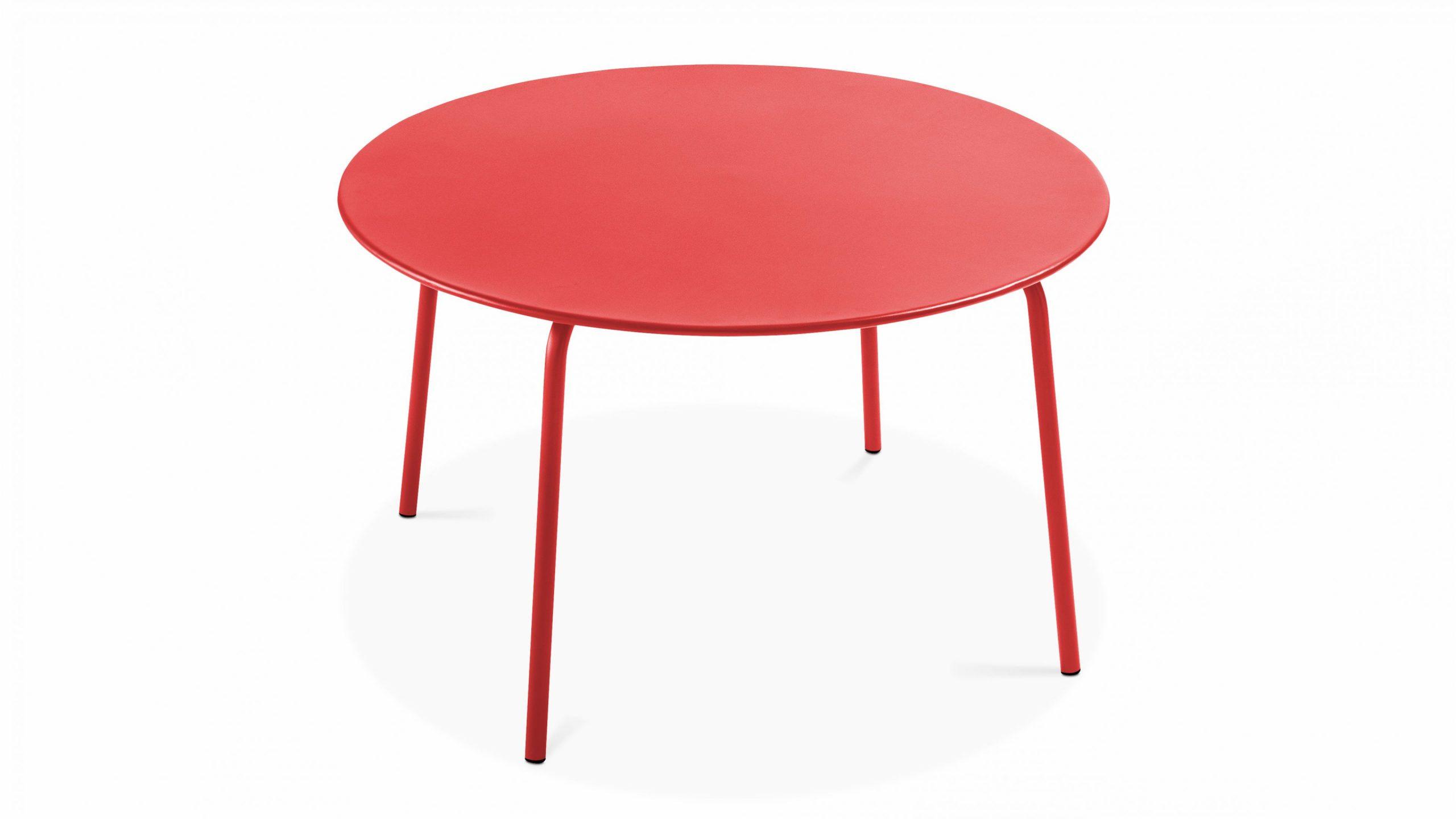 Table Jardin Ronde Metal   Oviala serapportantà Table Jardin Ronde Pas Cher