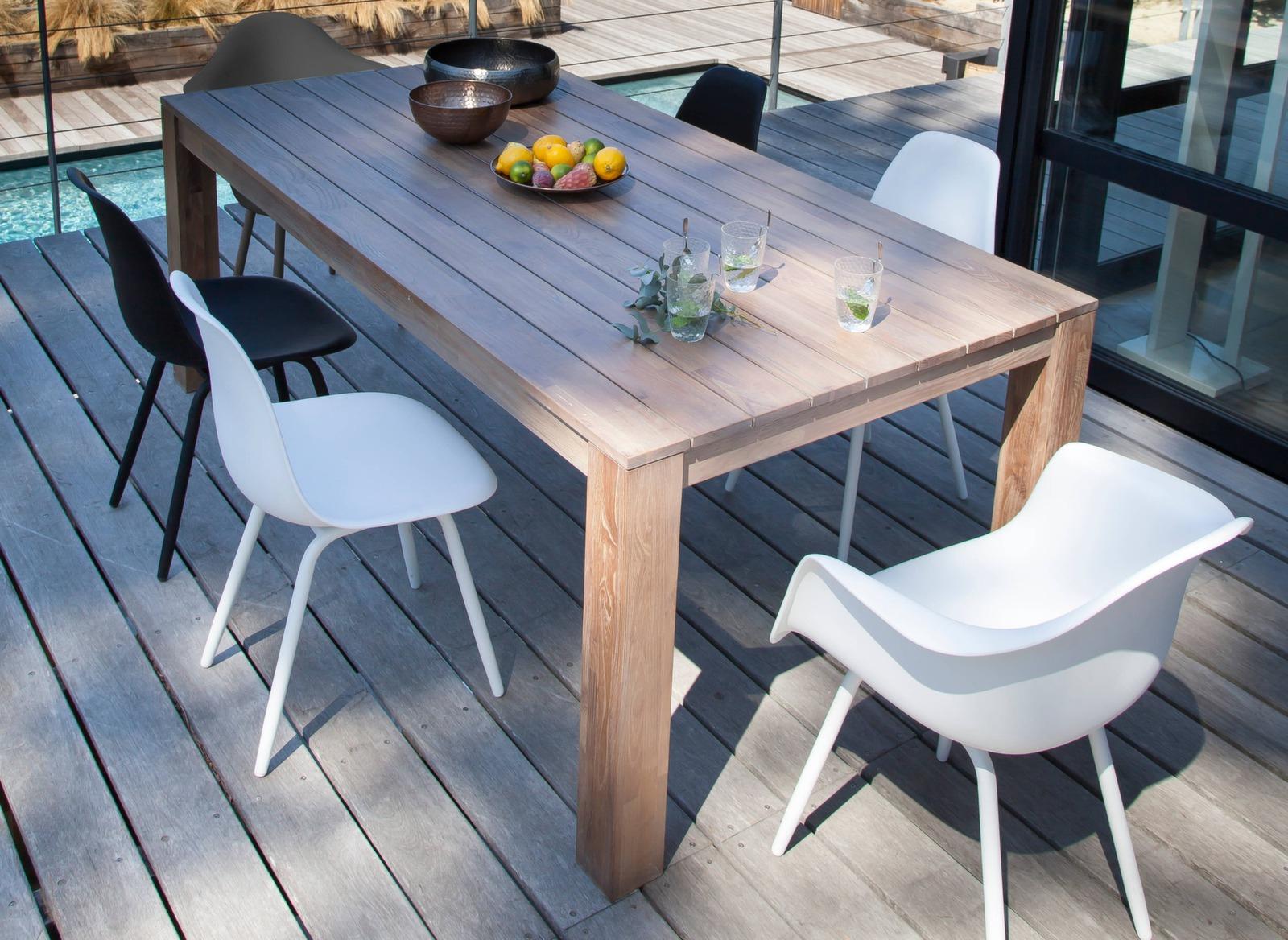Table Kéa 200 X 100 Cm + 8 Chaises Moss avec Table Et Chaise De Jardin Design