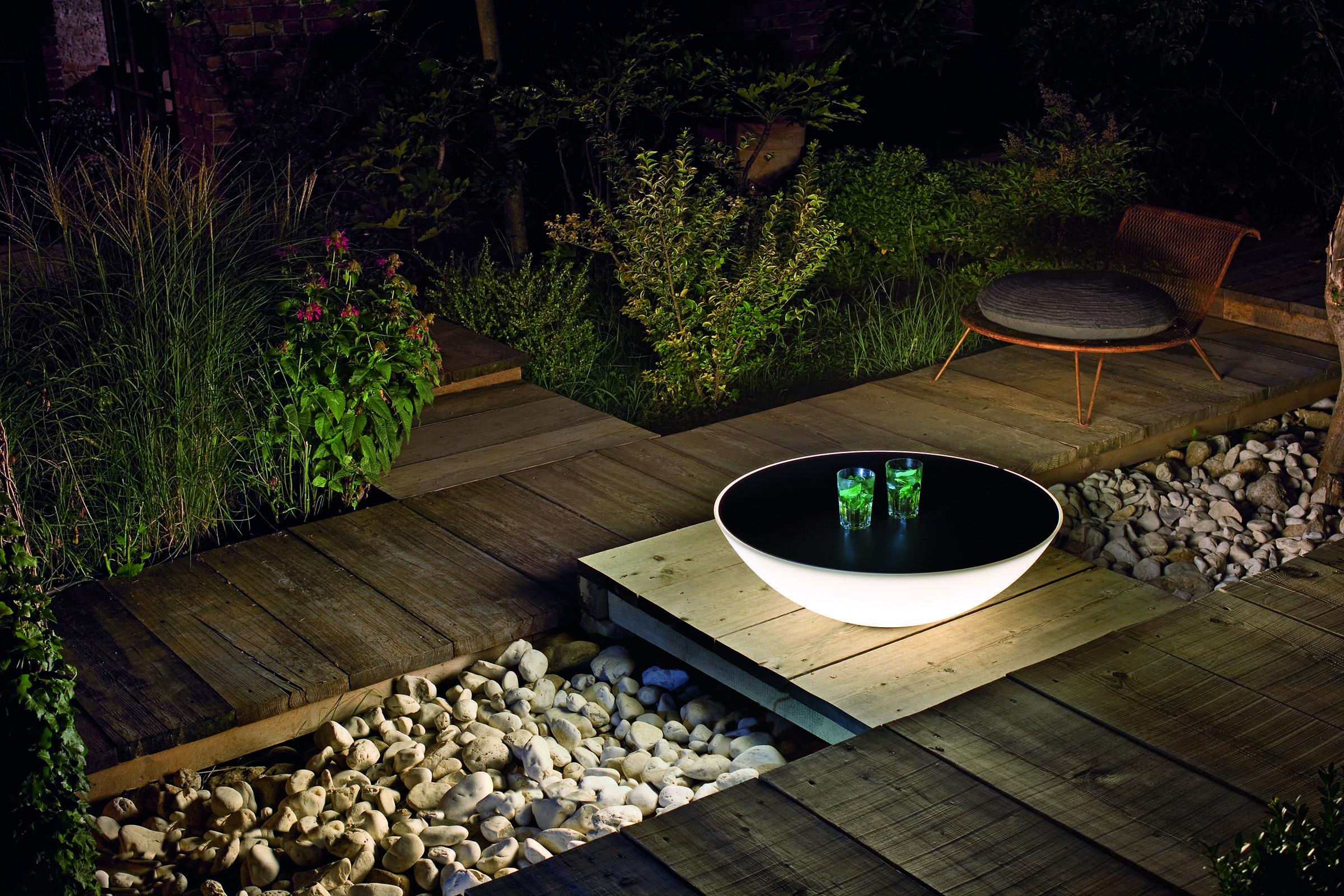 Table Lumineuse Solar De Foscarini | Plancha Exterieur ... concernant Salon De Jardin Lumineux