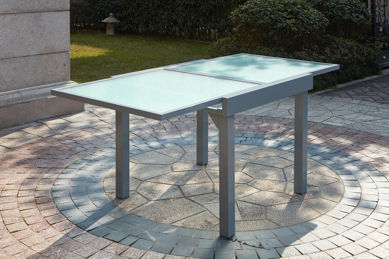 Table Molvina concernant Table De Jardin En Aluminium Avec Rallonge