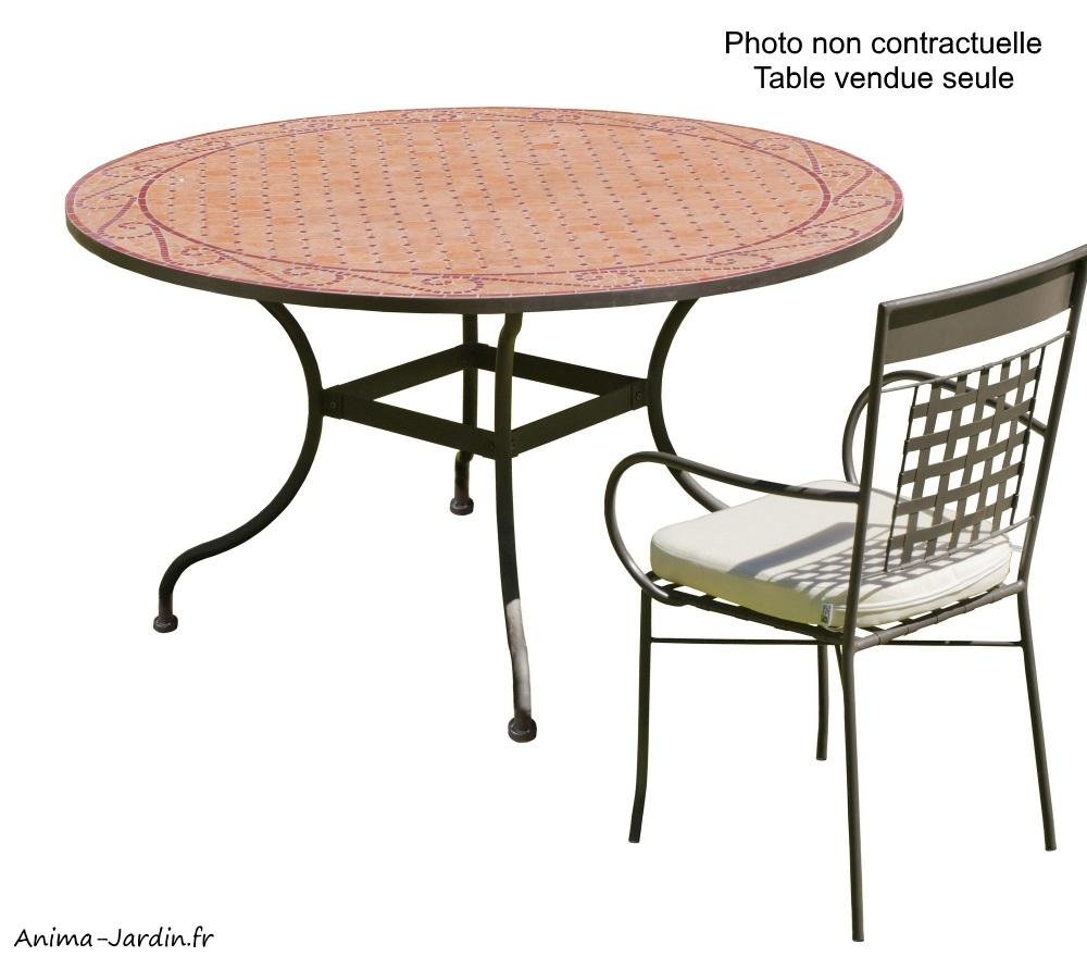 Table Mosaïque Fer Forgé, Table À Manger, Ronde, Bélice 140, Hévéa, Achat,  Pas Cher pour Table De Jardin En Mosaique