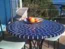 Table Mosaïque   Table Fer Forgé : Votre Table Mosaïque ... tout Salon De Jardin Mosaique