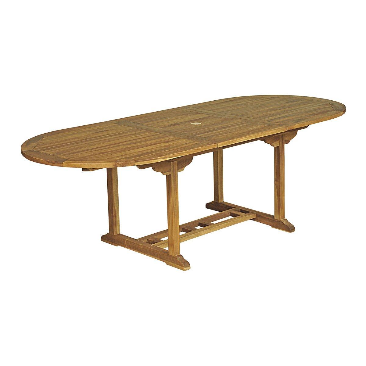 Table Ovale Baya - Teck Huilé 8/10 Places - Achat/vente De ... avec Salon De Jardin En Teck Pas Cher