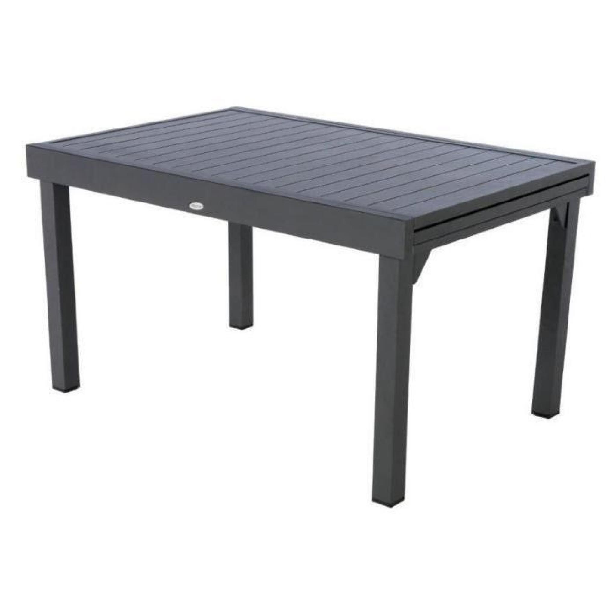Table Piazza Alu Hesperide Extensible 10 P. Graphite avec Table De Jardin Extensible Pas Cher