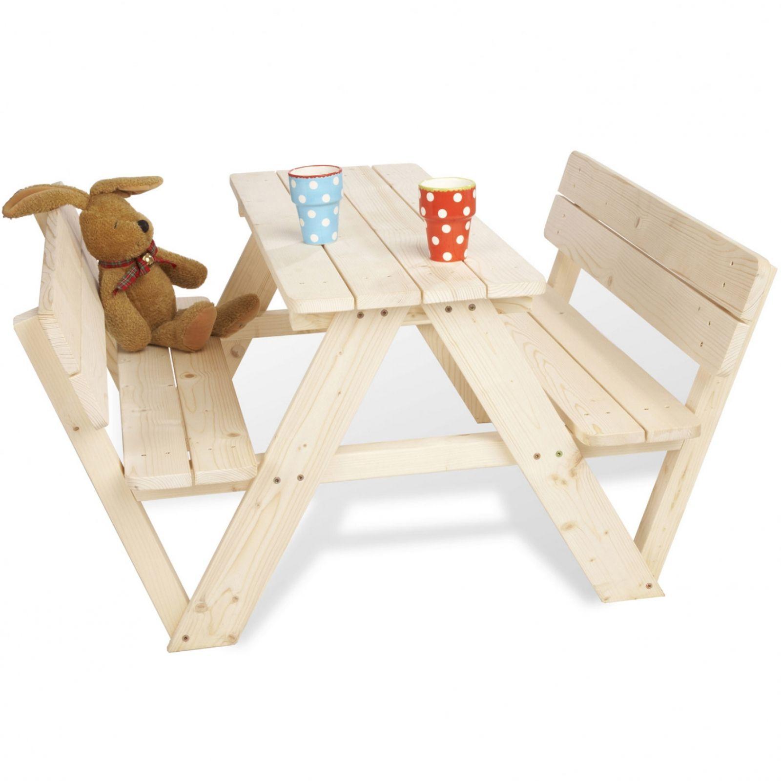 Table Pique-Nique 4 Places Avec Dossiers Pour Enfants ... pour Table De Jardin Enfants