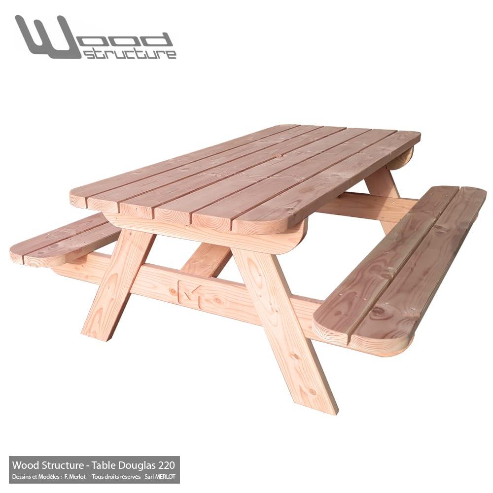 Table Pique-Nique Ld à Table De Jardin Pique Nique Bois