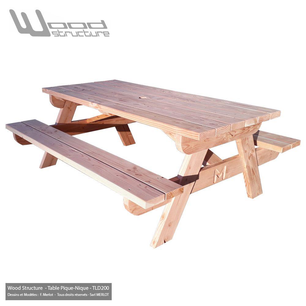 Table Pique-Nique Ld200 | Table De Pique Nique, Bois Concept ... intérieur Table De Jardin Pique Nique Bois