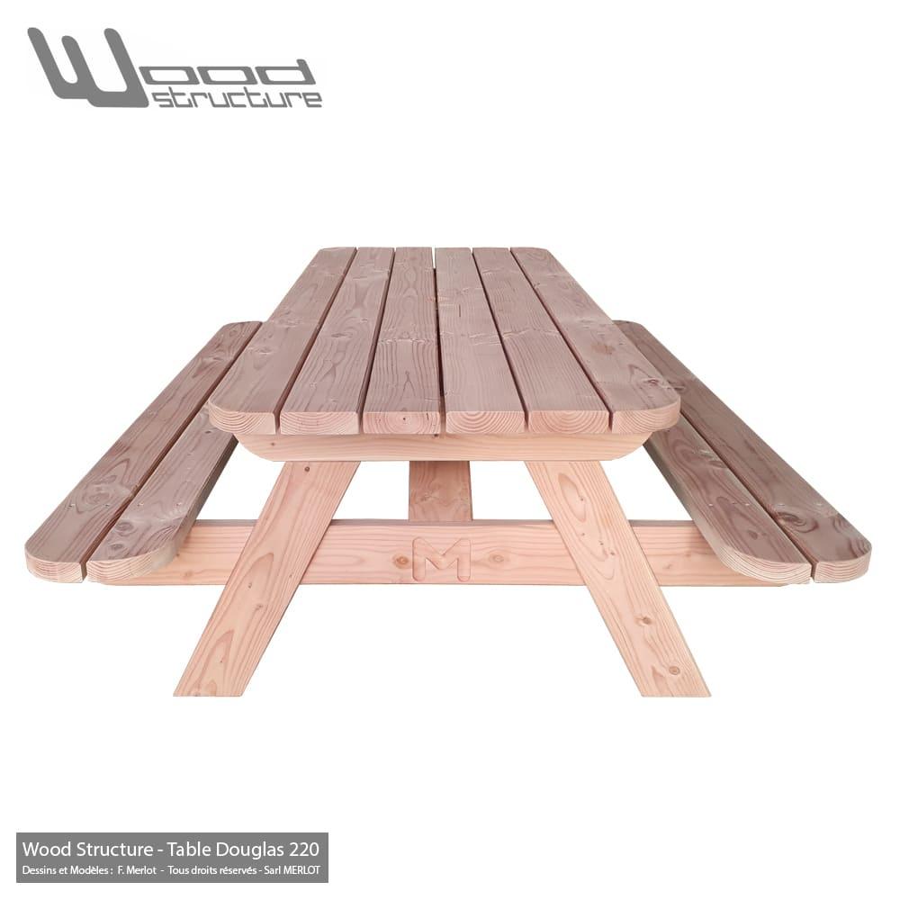 Table Pique-Nique Xld avec Table De Jardin Pique Nique Bois