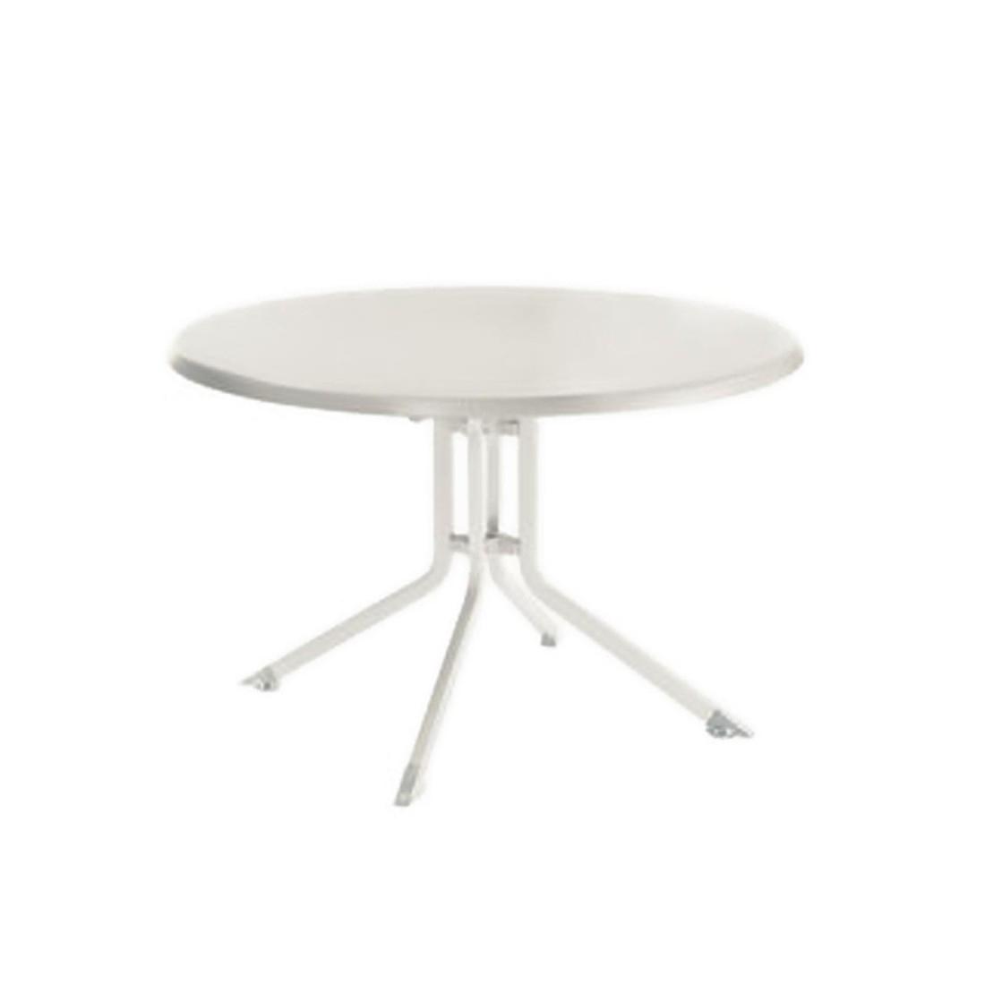 Table Pliante En Résine, Diamètre 100 Cm, Kettler Couleur Kettler Blanc /  Blanc concernant Table De Jardin Kettler