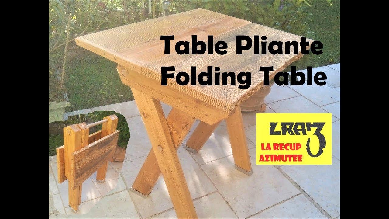 Table Pliante / Folding Table serapportantà Table De Jardin Pliante En Bois