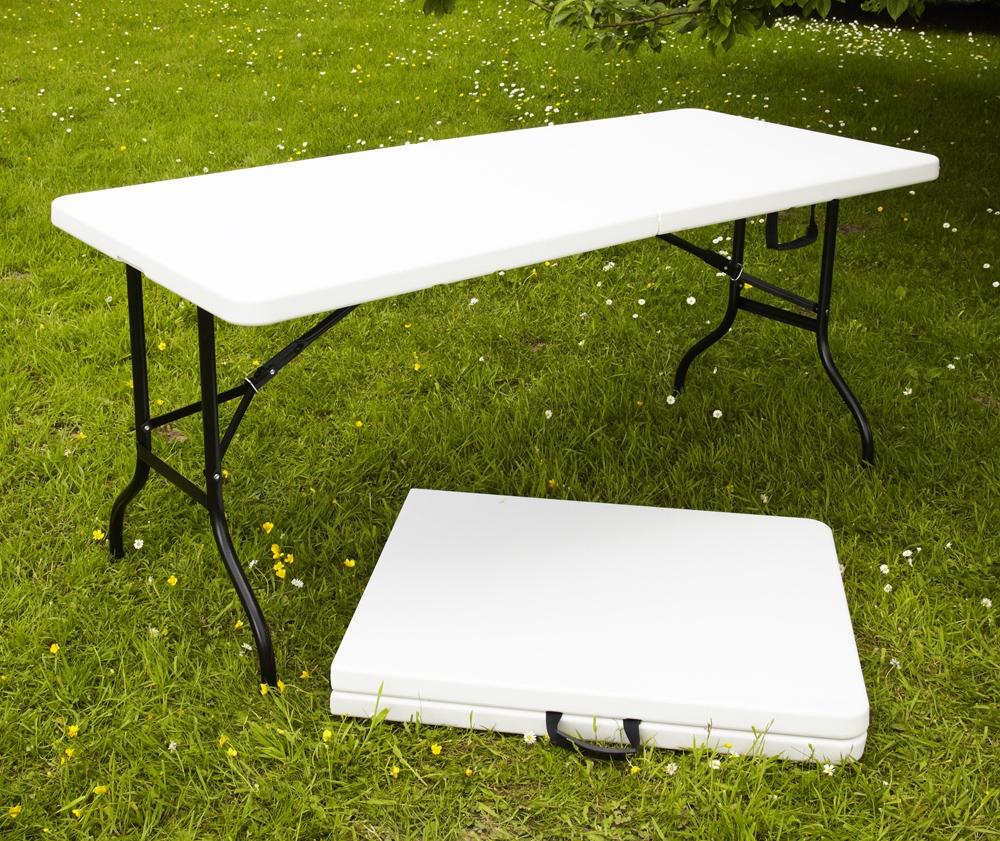 Table Pliante Multi-Usage 180X75X74Cm dedans Salon De Jardin Leclerc Catalogue
