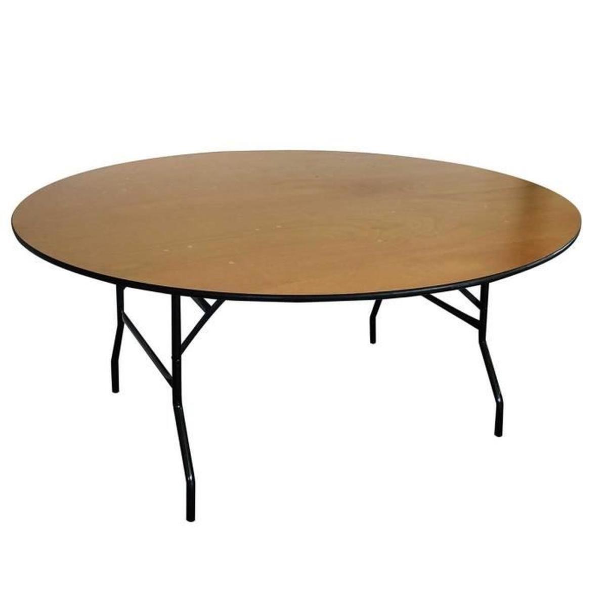 Table Pliante Ronde Bois concernant Table De Jardin En Bois Pliante Pas Cher