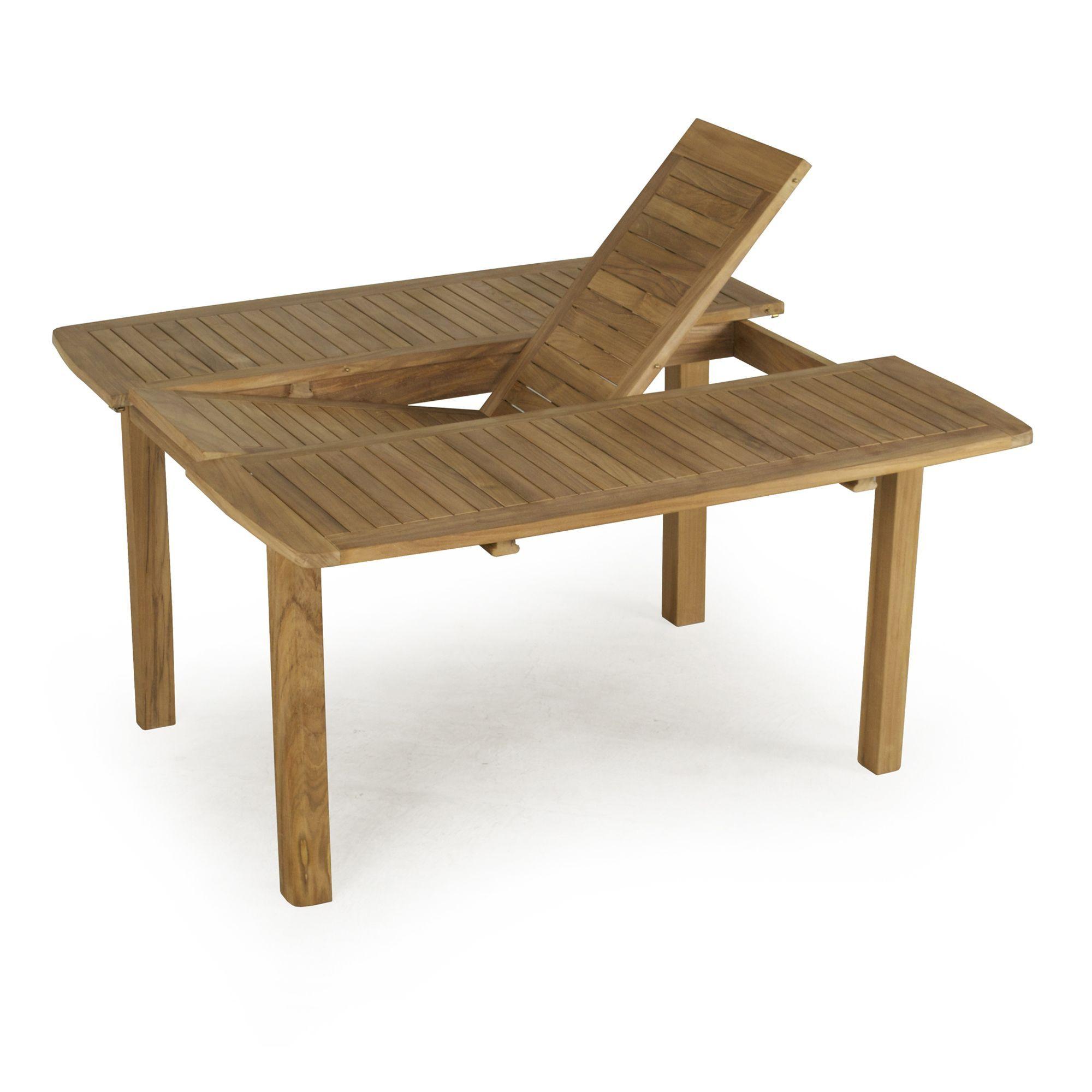 Table Rectangulaire Avec Rallonge Papillon - Atrium - Tables ... dedans Salon De Jardin Avec Rallonge