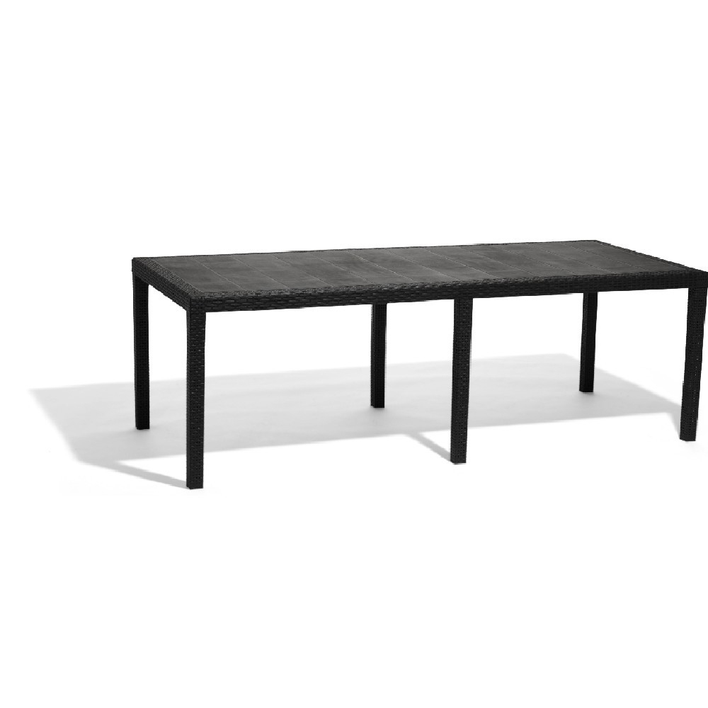 Table Rectangulaire Résine 10 Personnes Gris destiné Table De Jardin 10 Personnes