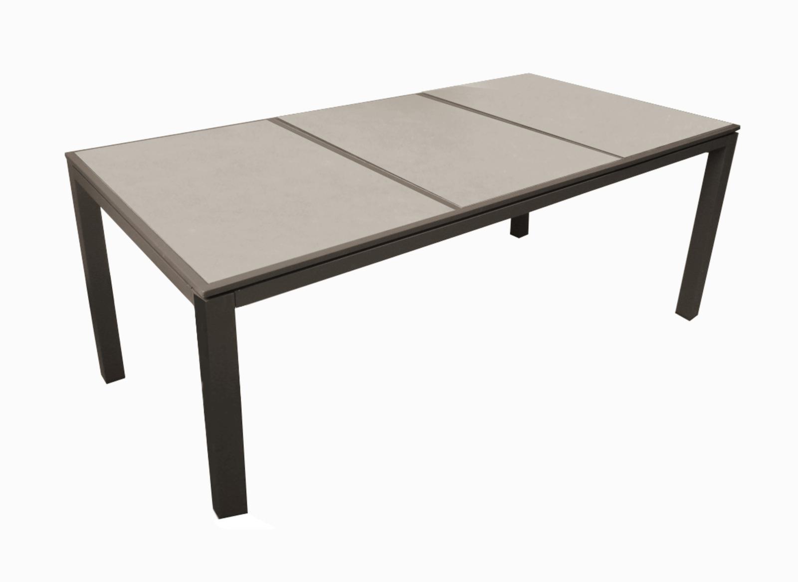 Table Romane 188 Cm, Plateau Céramique encequiconcerne Table Céramique Jardin