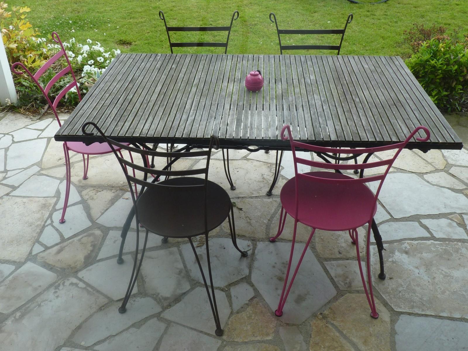 Table Ronde Fer Forgé Extérieur Nouveau Tables Et Chaises De ... à Salon De Jardin En Fer Forgé