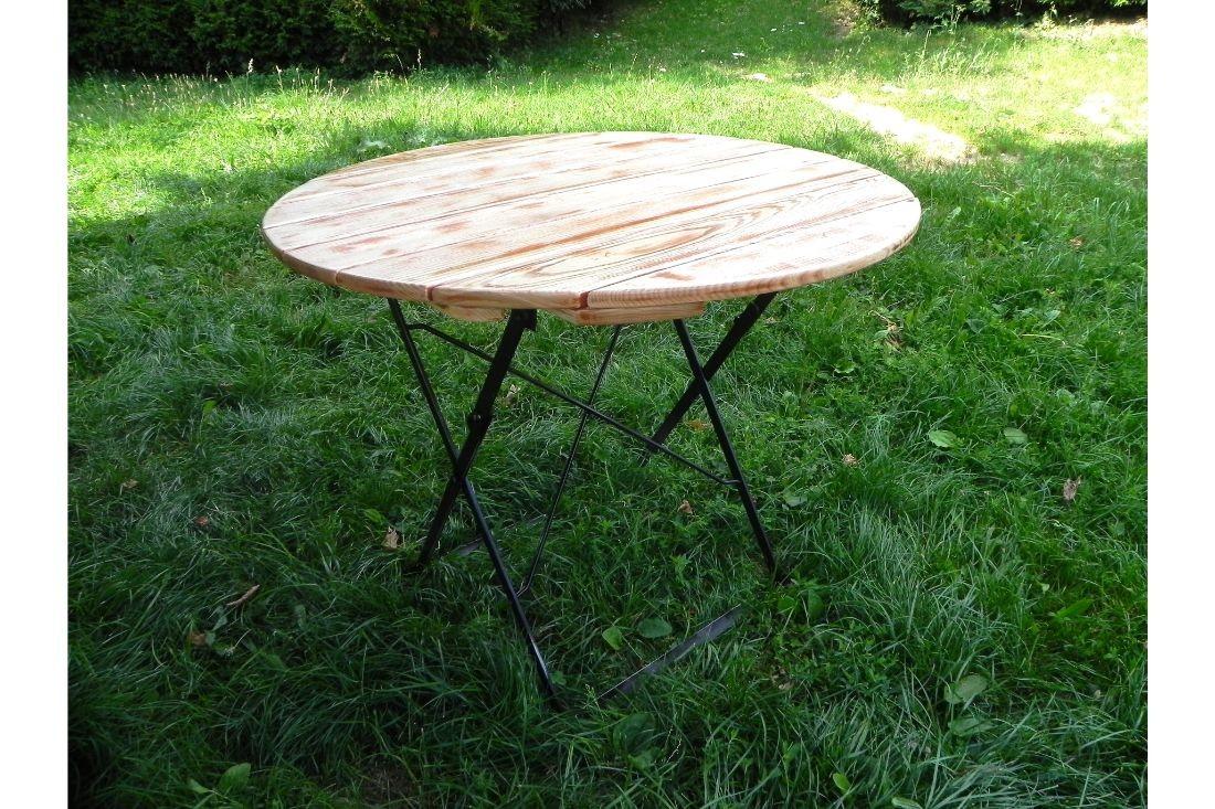 Table Ronde Oraas destiné Table De Jardin Ronde En Bois