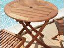 Table Ronde Pliante Look Teck intérieur Table De Jardin En Bois Pliante Pas Cher