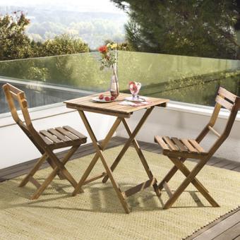 Table Ronde Verre Trempé Métal Époxy Textilène Chocolat ... destiné Table De Jardin 2 Personnes